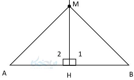 عمود منصف و خواص آن با کمک آموزش ترسیم های هندسی