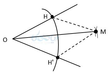 رسم نیمساز یک زاویه به کمک آموزش ترسیم های هندسی