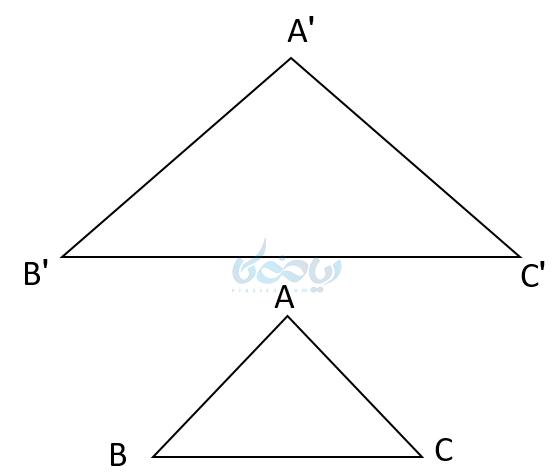اضلاع متناظر در دو مثلث متناظر در آموزش مثلثات