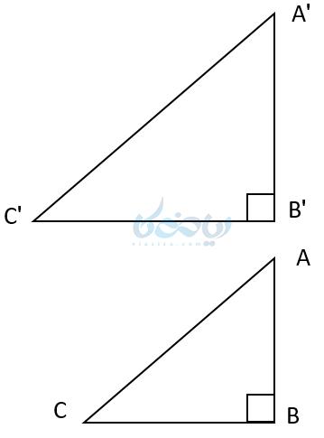 نسبت اضلاع برابر در مثلثهای قائم الزاویه در آموزش مثلثات