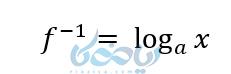 تعریف تابع لگاریتمی و تابع وارون