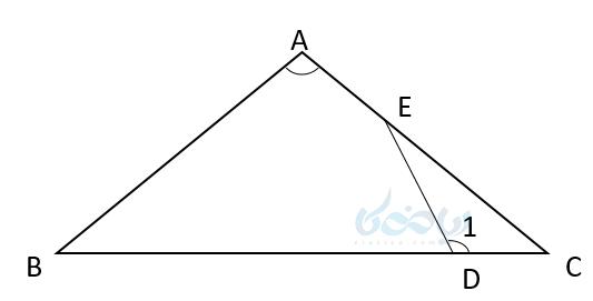 برای تشخیص ضلعها متناظر متناسب باید ابتدا زاویه های برابر را پیدا کرده اضلاع روبرویشان با هم متناسب هستند .