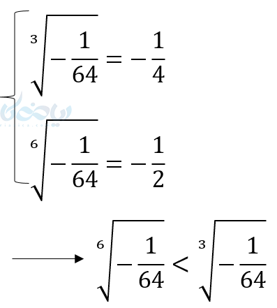 در اعداد منفی هر چه عدد از نظر عددی (بدون در نظر گرفتن علامت منفی) بزرگتر باشد از نظر مقدار کمتر است.