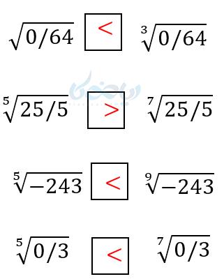 مثال آموزش ریشه گیری در ریاضی دهم.