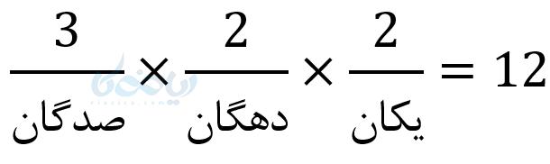 سه رقمی زوج بدون تکرار ارقام در تعمیم اصل ضرب