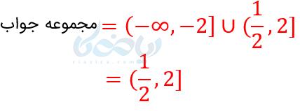 مجموعه جواب نامعادله.