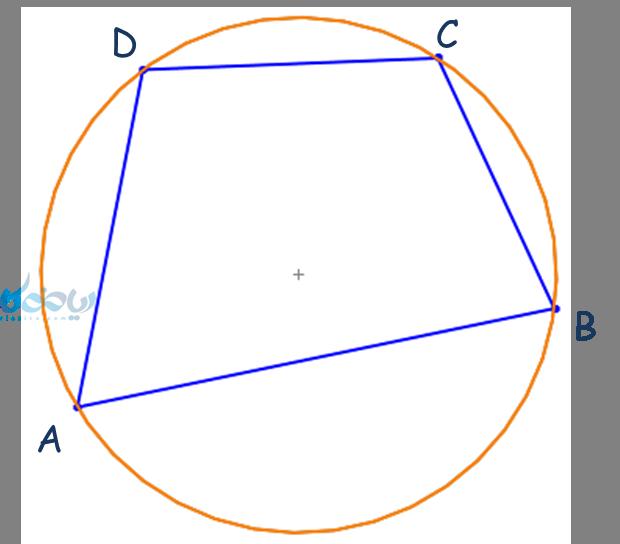 مکمل بودن زوایای محاطی چهارضلعی