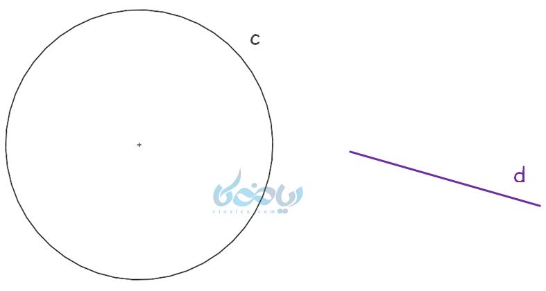 خط و دایره