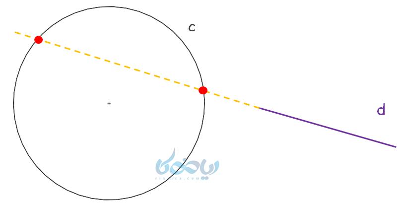 امتداد خط و دایره