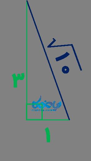 مثالی از رسم پاره خط با طول رادیکالی