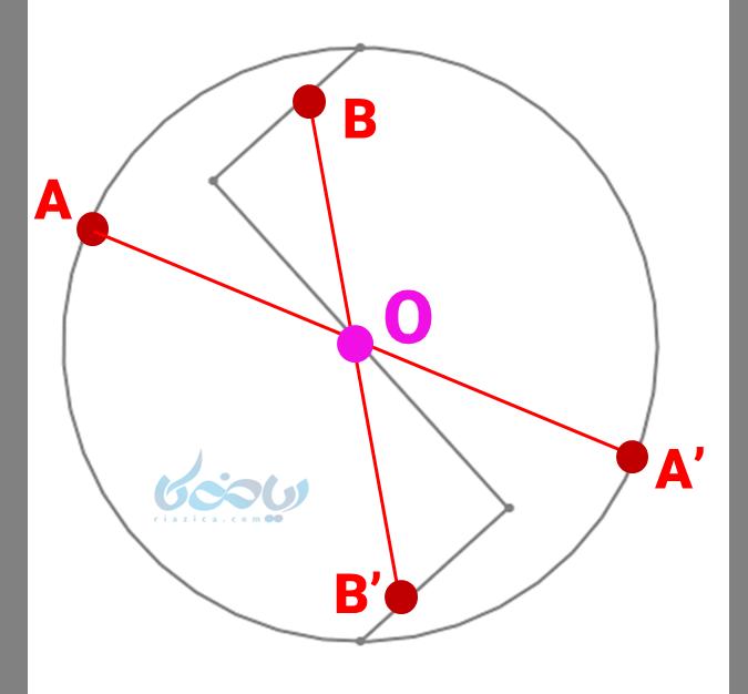 حل مثال مرکز تقارن
