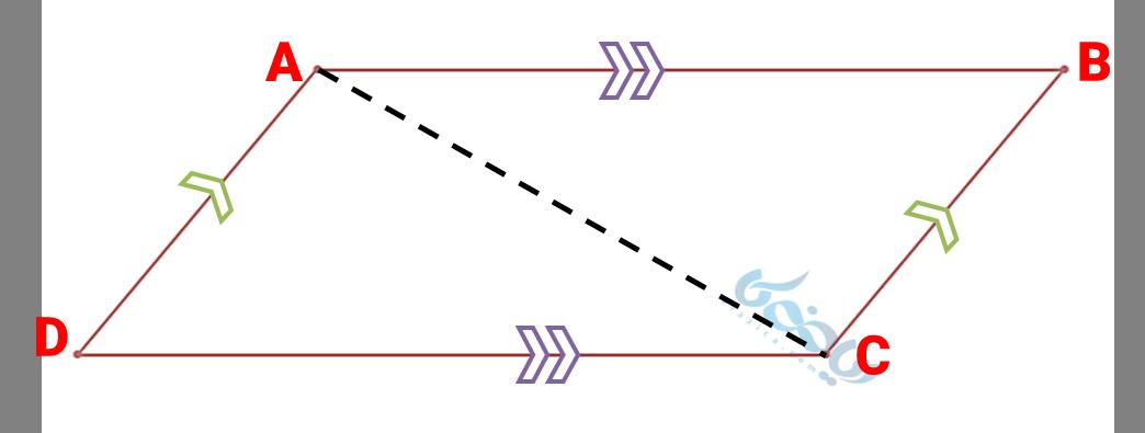 اثبات مجموع زاویه های داخلی چهارضلعی