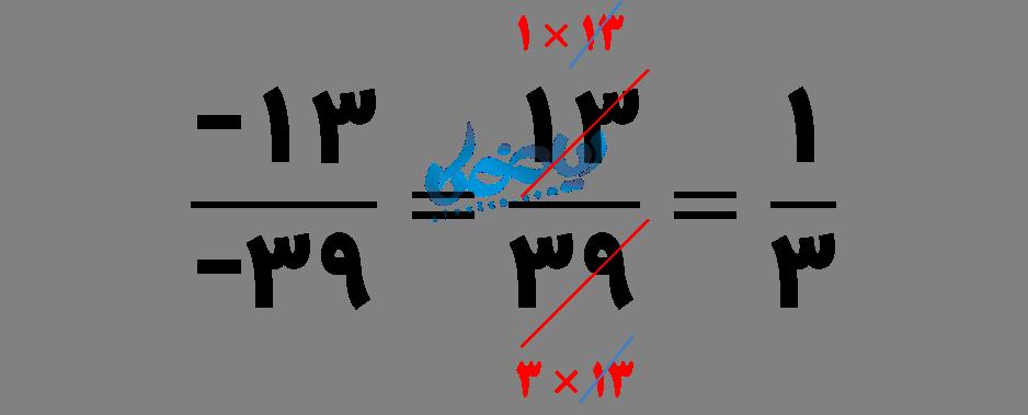 مثال ساده کردن عدد گویا