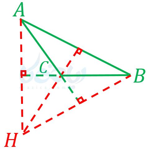 استدلال ریاضی نهم - محل تقاطع ارتفاعها