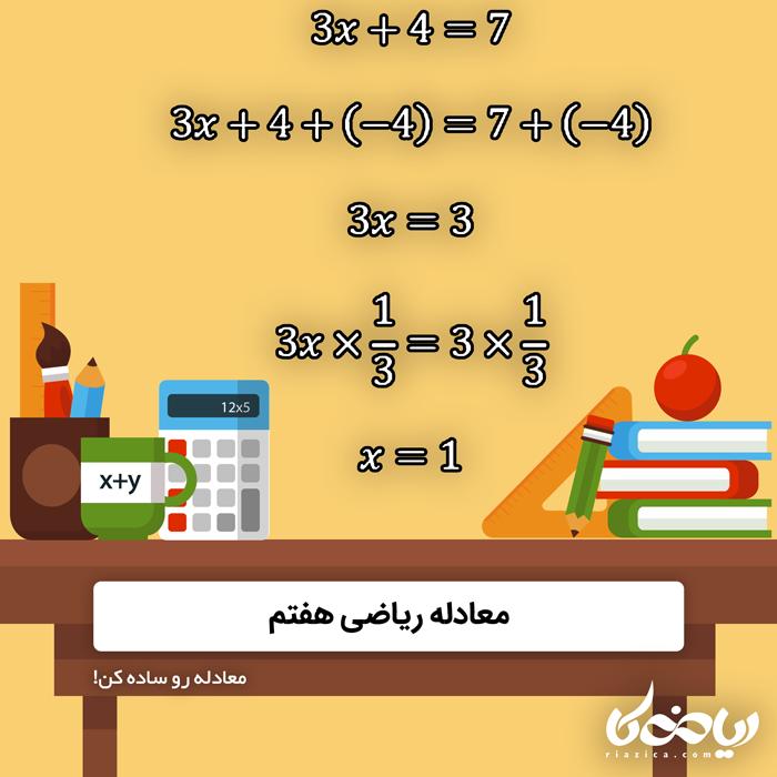 معادله ریاضی هفتم 💎🚀 - معادله رو ساده کن!