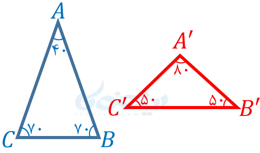 مثلث متساویالساقین- شکل های متشابه ریاضی نهم