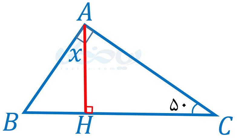پیدا کردن اندازۀ زوایا- روابط بین زاویه ها ریاضی هفتم