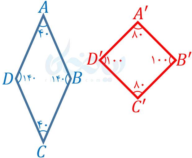 شکل های متشابه ریاضی نهم