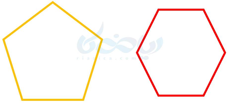 چند ضلعی منتظم- روابط بین زاویه ها ریاضی هفتم