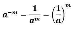 مثال از توان منفی یک کسر