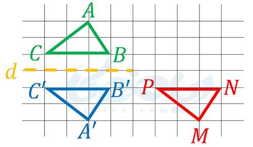 انطباق دو مثلث با استفاده از تبدیلات- شکل های هم نهشت ریاضی هفتم