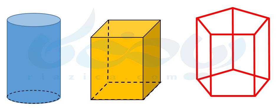 حجمهای منشوری- حجم های هندسی ریاضی هفتم