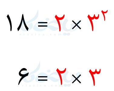 استفاده از مفهوم توان برای محاسبۀ ک.م.م
