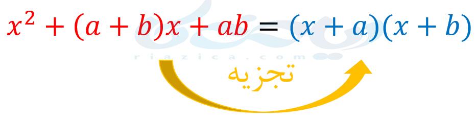 تجزیه با استفاده از اتحاد جمله مشترک- تجزیه ریاضی نهم