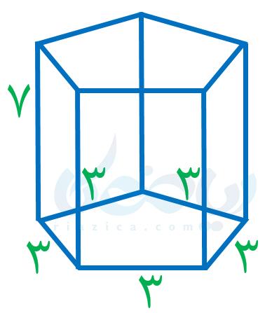 مثال از یافتن مساحت جانبی یک منشور