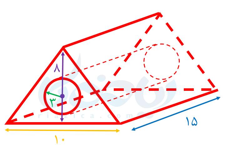 محاسبۀ حجم منشور با کاستن یک حجم