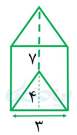منشور با قاعدۀ مثلث- محاسبه حجم های منشوری هفتم